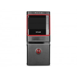 CASE DELUX 500W MV887 BLACK/RED