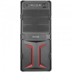 CASE DELUX 500W MV888 BLACK/RED