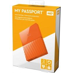 """EHDD 2TB WD 2.5"""" MY PASSPORT ORANGE"""