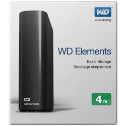 """EHDD 4TB WD 3.5"""" ELEMENTS BLACK"""